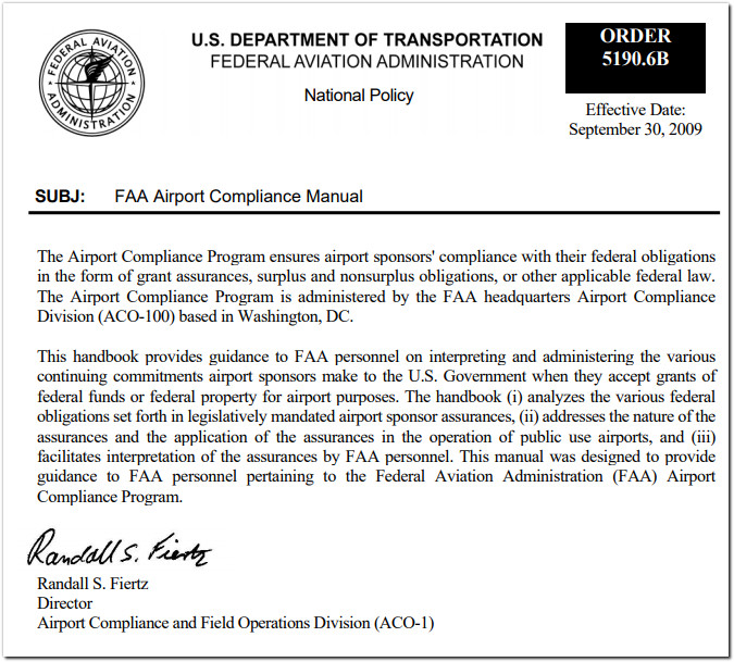 faa airport compliance manual