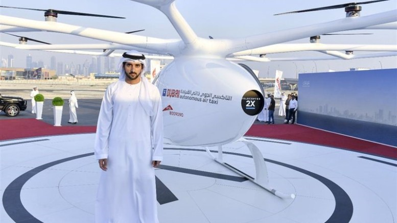 Dubai first to test drone as taxi | JDA Journal