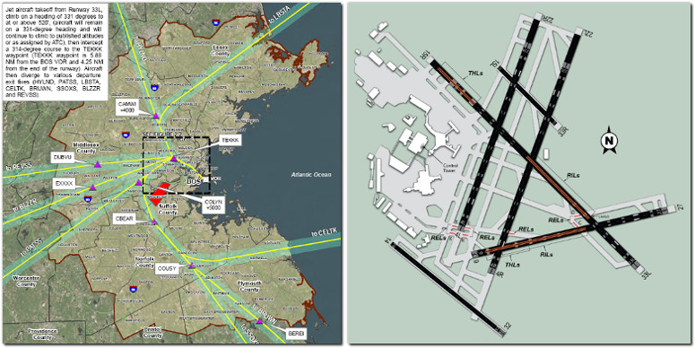 boston logan airport noise study faa