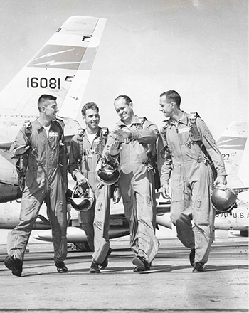 Chuck and fellow pilots