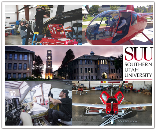 SUU campus, planes, hangars,helicopter