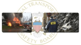 NTSB seal in background