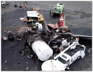 NTSB drone picture of BDL crash