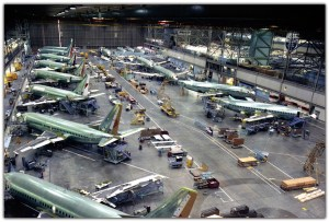 B737 Max 8 production line