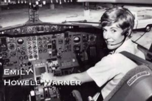 Warner as a young pilot