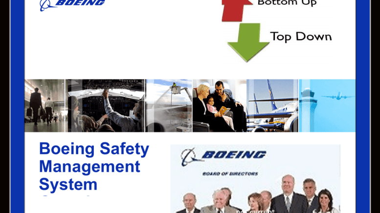Boeing SMS and Board members