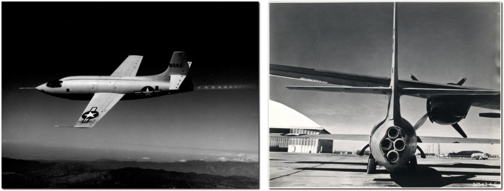 X-1 FLYING AND ON WING
