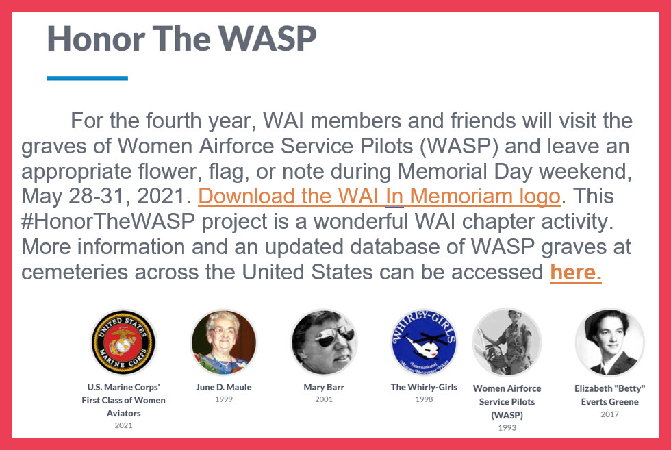 Honor the WASP