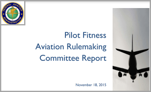 Pilot Mental Health Aviation Rulemaking report