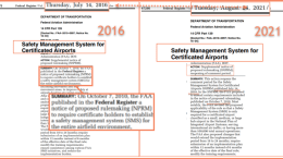 2016 and 2021 SNPRMs