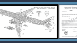B-777 drawing and STC