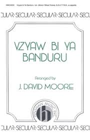 Sheet music cover image for choral arrangement of Vzyaw Bi Ya Banduru