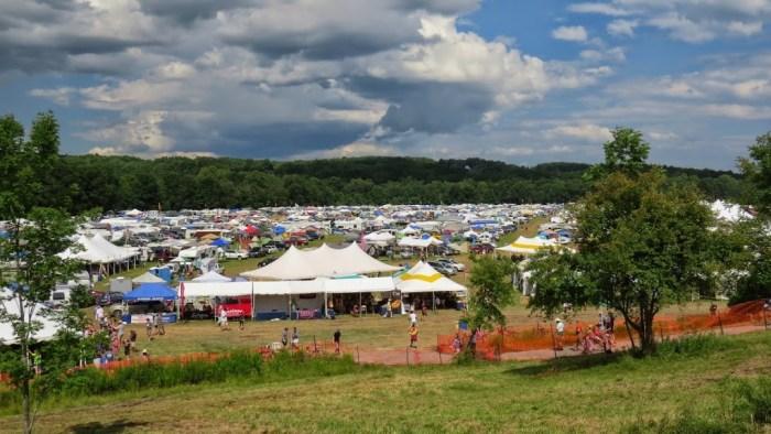 Festival camping area