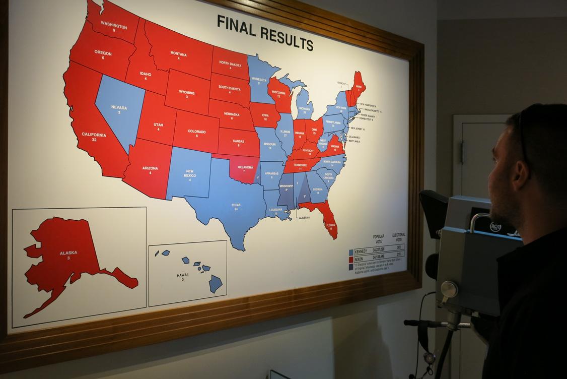 JFK Election Map. Visiting the JFK Presidential Library   Museum   J  Dawg Journeys