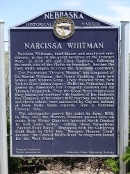Narcissa Whitman Plaque