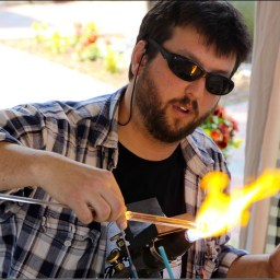 Simon glassblowing
