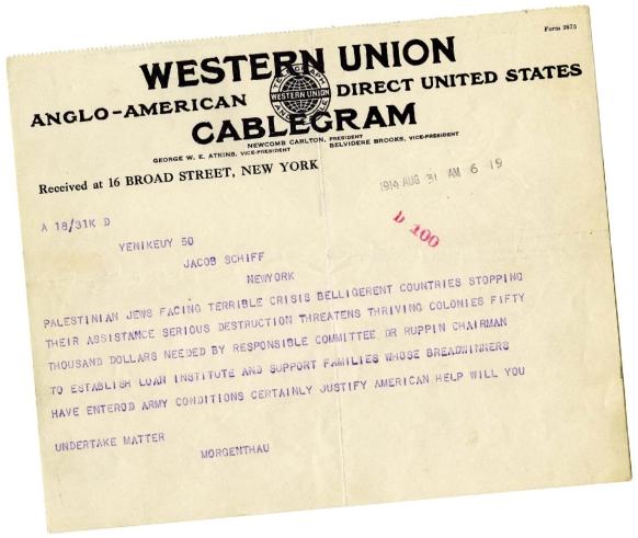 JDC Cablegram