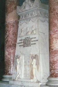 The Jacobite memorial, Rome