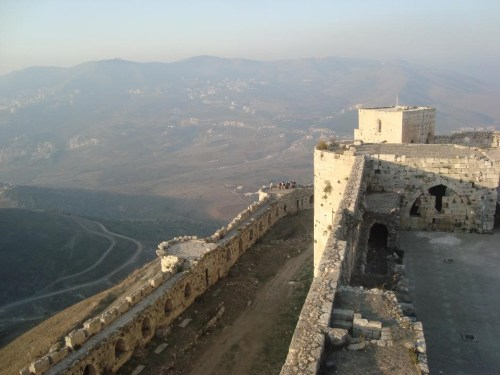 The strategic position of Krak des Chevaliers, November 2010
