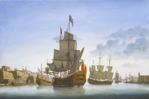 The Anne in her prime during a visit to Malta in 1687 [Richard Endsor]
