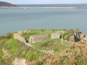 Fishguard fort, completed in 1781 following the bombardment of the port by the US privateer Black Prince in 1779