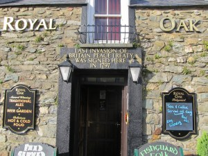 The Royal Oak in Fishguard, where the surrender terms were signed