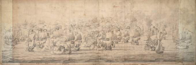 The Battle of Lowestoft, 1665, by Van de Velde the elder (National Maritime Museum)