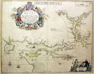 Greenvile Collins' chart of Milford Haven