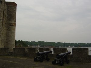 The gun battery at Upnor Castle. No passeran...but they did.