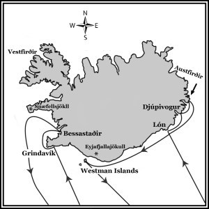 Routes of the corsairs