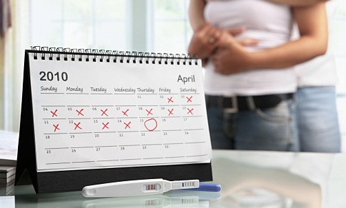 Streg graviditetstest hvid på Clearblue Graviditetstest