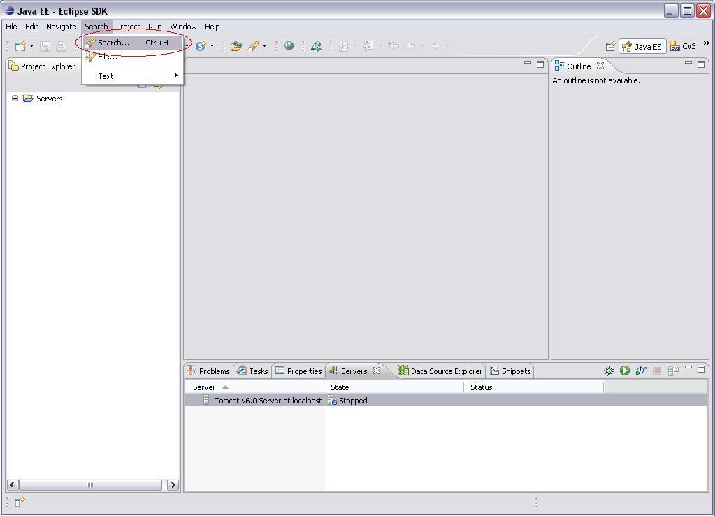 Eclipse WTP - Search