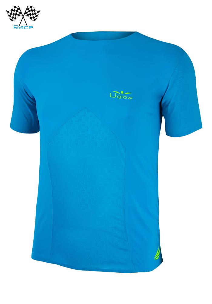 Camiseta de Hombre de manga corta Uglow Race Azul/Amarillo TS1