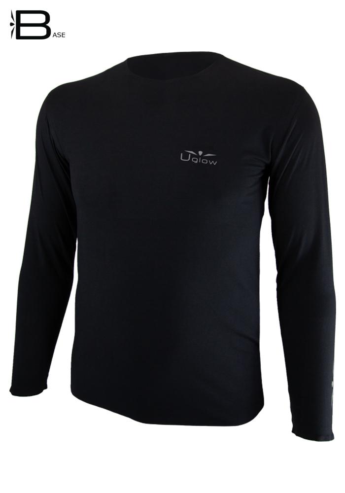 Camiseta manga Larga Hombre Uglow TLS 3 Negro/Plata