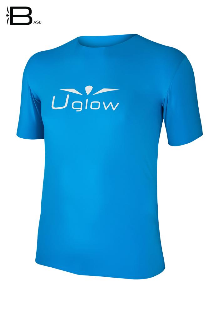 Camiseta Uglow Base manga corta hombre, Azul Celeste/Blanco TS2