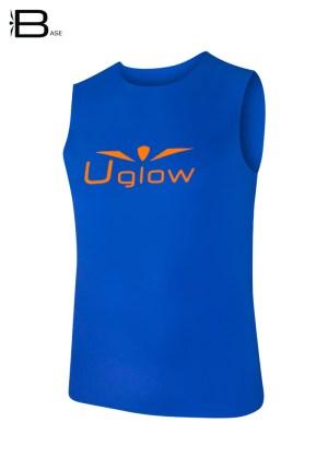 camiseta-para-correr-hombre-sin-mangas-para-hombre-uglow-base-azul