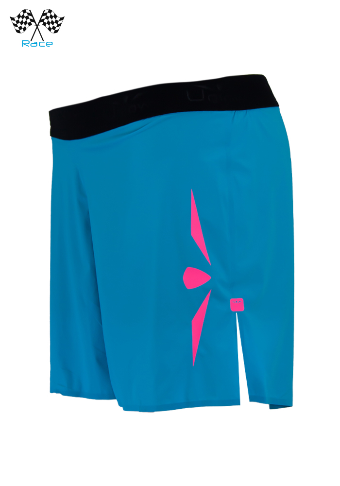 Short 5 trail running mujer Uglow Speed Aero 2en1 S1 Azul/Rosa: