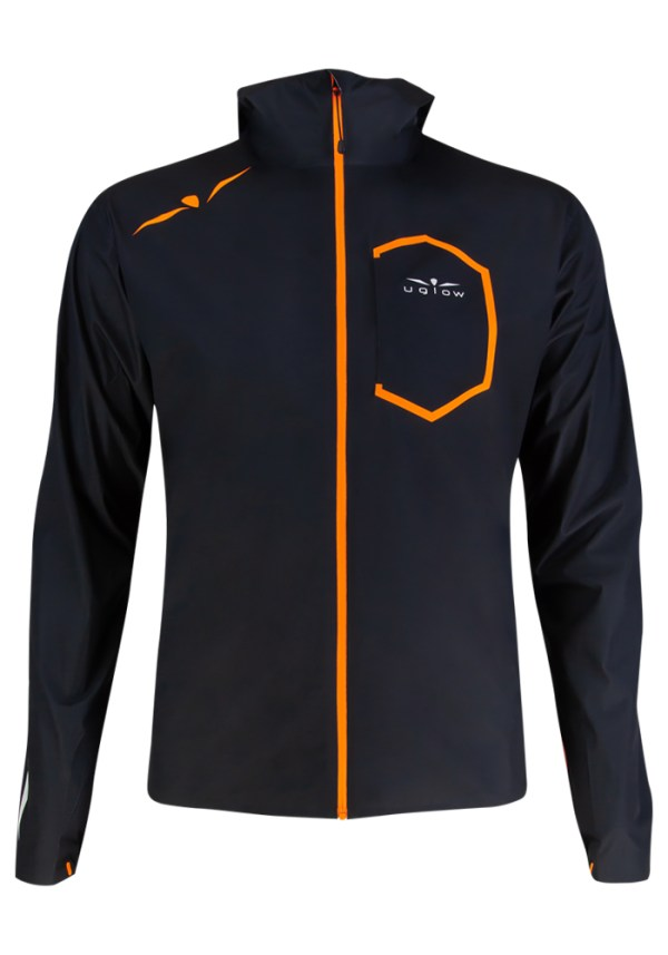 Impermeable correr negro naranja, 10K
