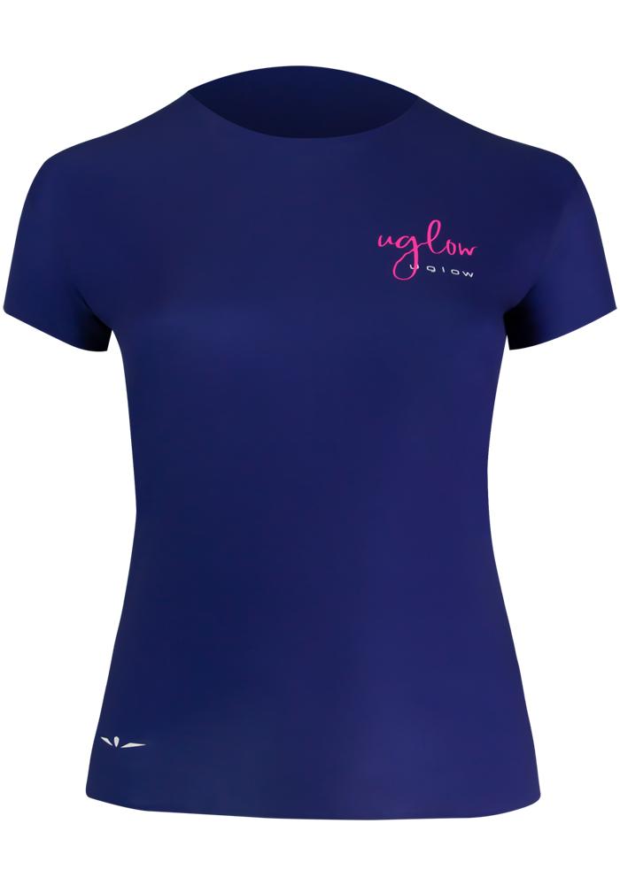 Camiseta para correr, 75 gramos mujer azul marino