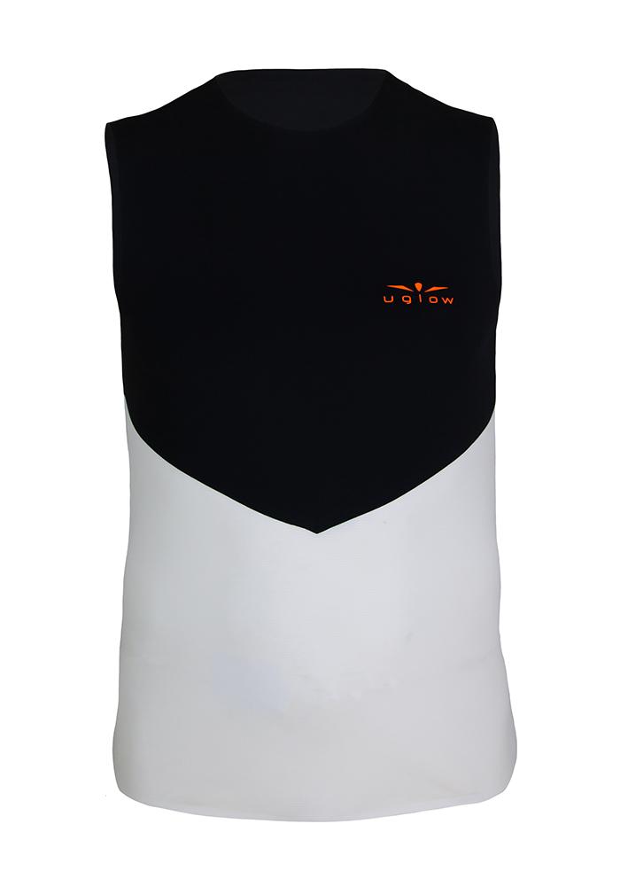 Camiseta para correr hombre de tirantes Negro/Naranja WTT3