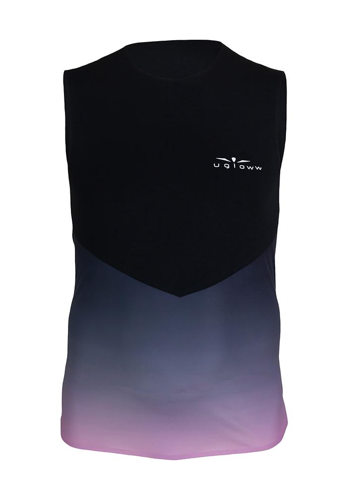 Camiseta para correr hombre de tirantes Degradado/Rosa WTT4