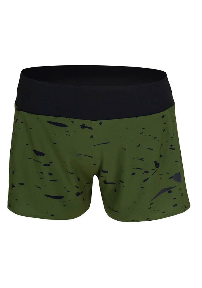 Short running mujer Uglow Speed Aero, Kaki, colorway 1