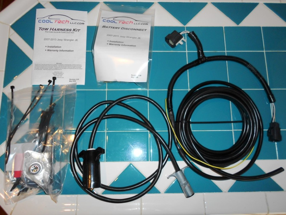 medium resolution of cooltech wiring harness deluxe kit tow jeep wrangler