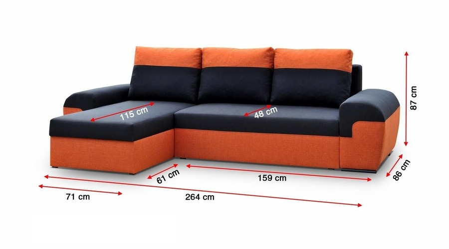 orange and black sofa bed chesterfield john lewis j d furniture sofas beds mori corner prev
