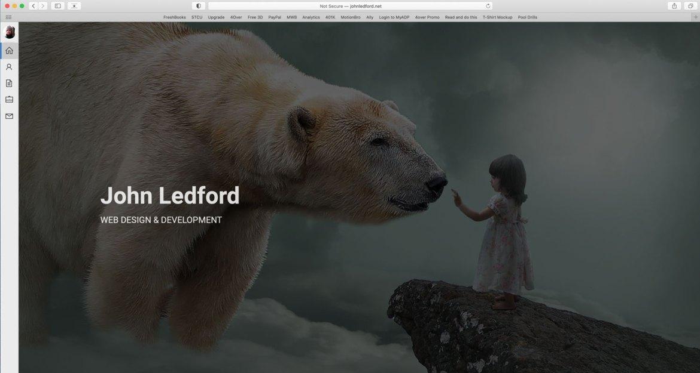 John Ledford personal portfolio website