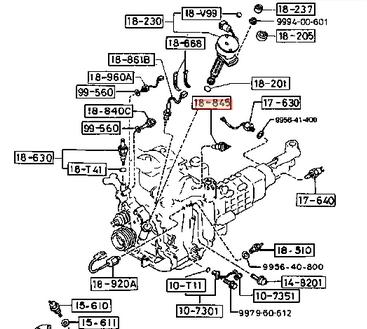 GENUINE MAZDA RX7 RX-7 FC3S 13B ROTARY MPV AIR INTAKE TEMP