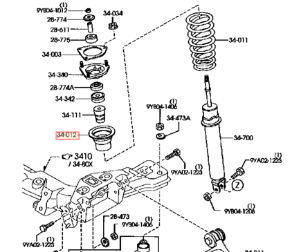 Genuine Mazda Rx8 Front Upper Suspension Spring Seat Oem as well 1999 Subaru Forester Engine Diagram furthermore Gates Kevlar Timing Belt  ponent Kit Water Pump For Subaru Ej also Lexus Is300 Parts Catalog further Vehicle Steering  ponents Diagram. on subaru sti timing