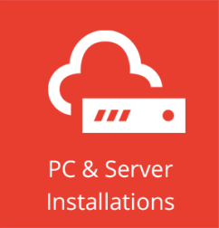 A complete installation service for both PC's and servers.