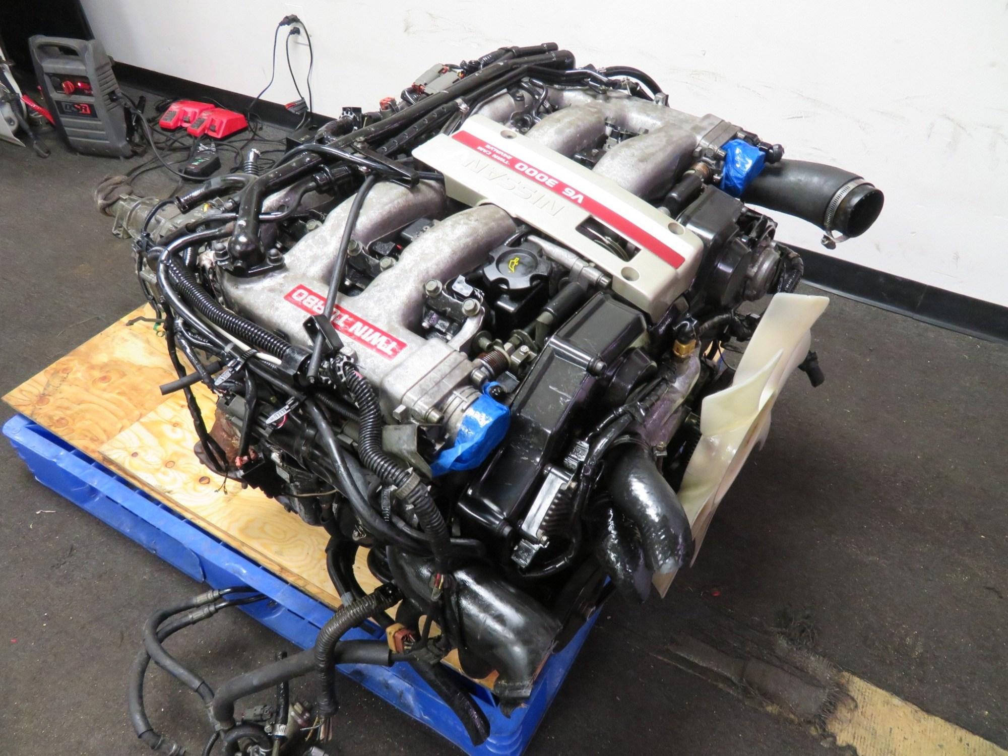 hight resolution of 90 96 jdm nissan 300zx twin turbo vg30dett 3 0l v6 engine automatic twin turbo mazda wiring harness