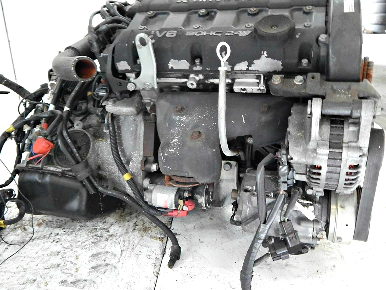 hight resolution of 6g72 mitsubishi 3000 gt dodge stealth twin turbo 3 0l v6 engine with awd 6 speed manual transmission
